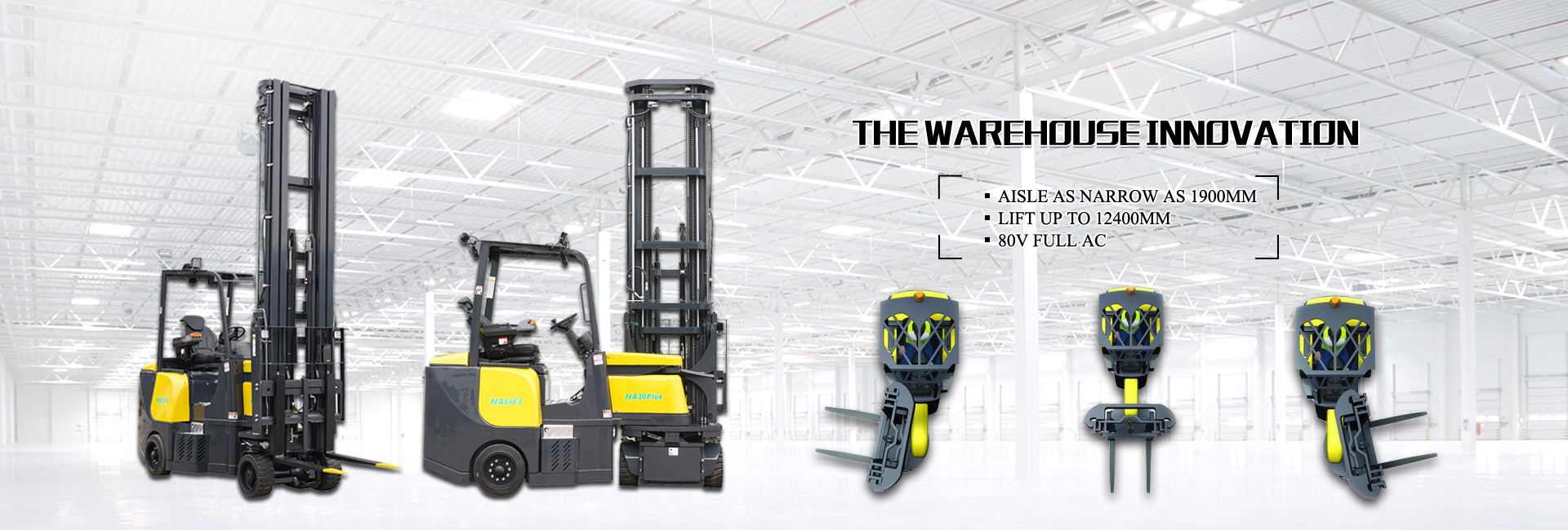 Narrow Aisle Articulated Forklift Trucks